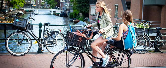 amszterdamban-biciklizni